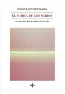 'El morir de los sabios', de Enrique Bonete Perales.